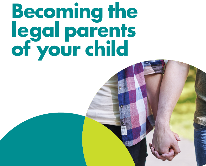Becoming the legal parents of your child leaflet front cover