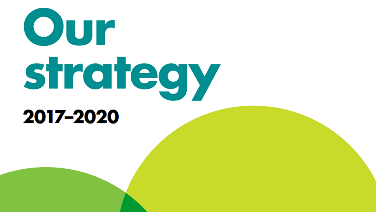 Our strategy 2017-2020 front cover