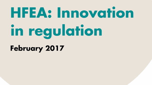 HFEA innovation in regulation front cover