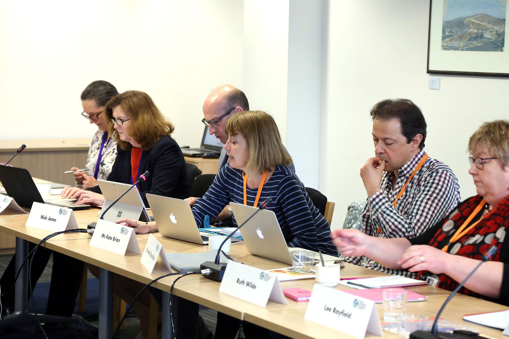 Members of the HFEA board sat along a table during an Authority meeting